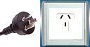 Тип I. Сводная таблица типов бытовых вилок, розеток, номинала питающего электрического однофазного напряжения и частоты сети по странам мира.