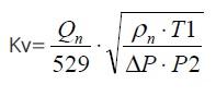 Газ, объемный расход / режим 1. Расчет и выбор регулирующих клапанов (вентилей) по пропускной способности на воде, для жидкости, водяного пара паре или газа.